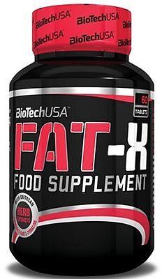 BioTech USA FAT-X 60tabs. Chitosan Minerals L-Tyrosine - Fat Burner - Free P&P