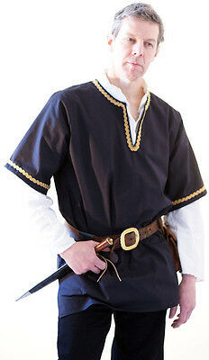 Medieval-LARP-SCA-Game Of Thrones DELUXE NOBLEMAN BRAIDED TUNIC All Sizes