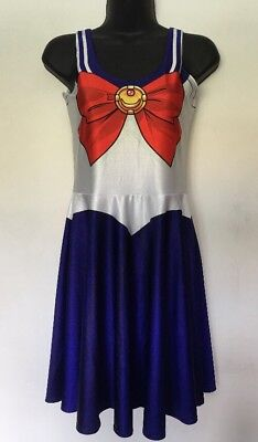 Living Dead Sailor Moon Skater Dress Cosplay Outfit Anime Dress Up EUC Con - Sailors Dressing Up Outfits