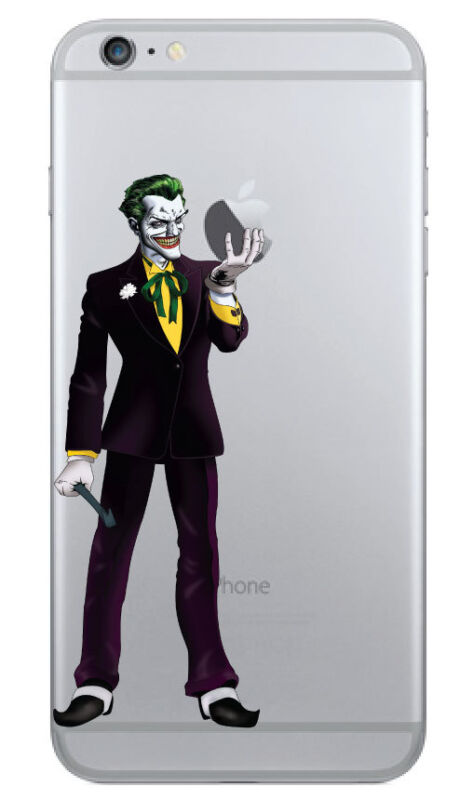 "D365 Joker Holding Apple Decal Sticker for iPhone 6 Plus (5.5"")"