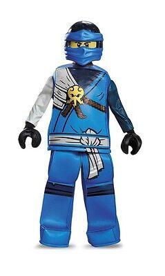 LEGO Ninjago JAY Blue Ninja Prestige HALLOWEEN COSTUME Youth Size MEDIUM 7/8 - Blue Jay Halloween Costume