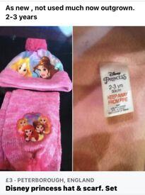 Disney princess hat and scarf set