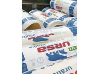 22rolls 100mm URSA Thermo Acoustic Insulation Roll 7.2m2 Glasswool Sound Proofing+1 ISOVER ROLL FREE