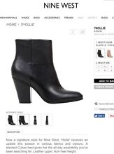 Nine West Hollie Ankle Boots Snowtown Wakefield Area Preview