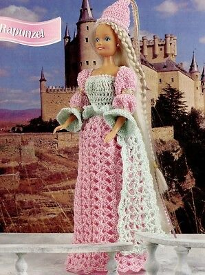 Barbie Doll Crochet PATTERN/Instructions Leaflet  (Rapunzel-outfit)