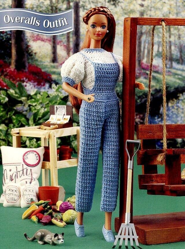 Lawn Party Sundress fits Barbie Doll Crochet Pattern//Instructions Leaflet NEW