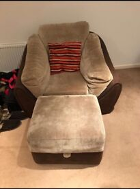 Armchair and Matching Poof
