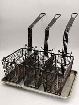 Lot Of 3 Commercial Deep Fryer Basket Handle Kitchen Restaurant 13.5x 6 X 6