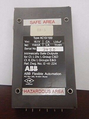Abb Flexible Automation Instrinsically Safe Outputs Type Ac13100 Ac13100 Used