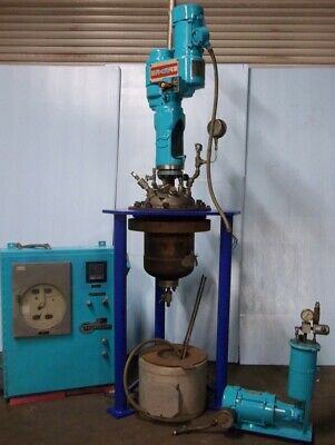 Chemineer 20 Liter Agitated Stainless Steel Reactor System