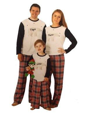 milie Mama Papa Kinder Weihnachts- Bär Schlafanzüge Pj-Satz (Weihnachten Pj Familie)