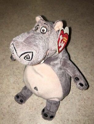 "NEW TY Beanie Baby Madagascar GLORIA HIPPO 7"" Plush Stuffed Animal NEW"