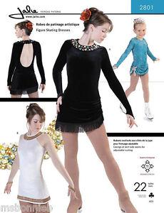 Jalie Figure Skating Dress w/Large Keyhole Back Sewing Pattern 2801 Misses/Girls