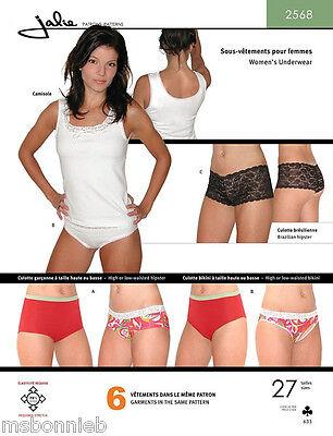 Jalie 2568 Misses & Girls Underwear - Camisole & Panties Sewing Pattern 27 Sizes