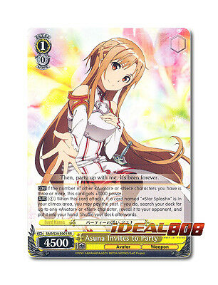 Party Invites Online (Weiss Schwarz Sword Art Online x 1 Asuna Invites to Party [SAO/S20-E001 RR])