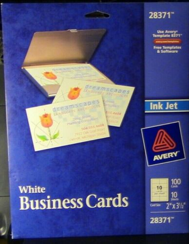Avery #28371: White Business Cards (Opened/used)