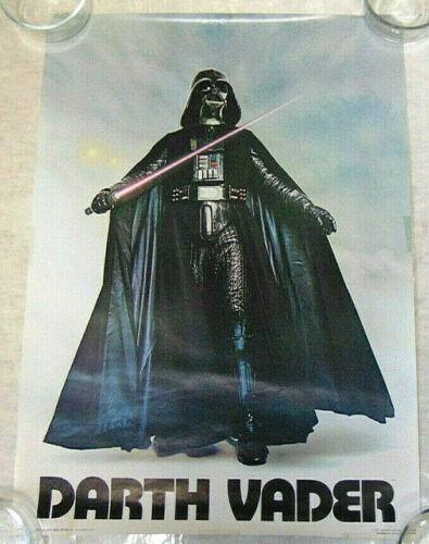 """Vintage STAR WARS Darth Vader 20x28"""" Poster 1977 Twentieth Century Fox"""