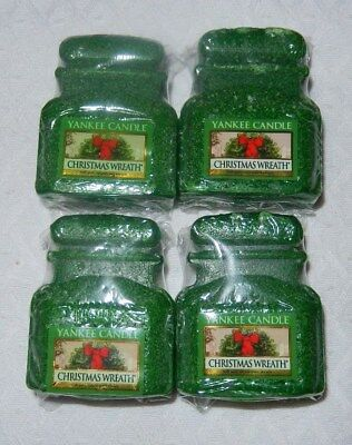 YANKEE CANDLE BRAND NEW CHRISTMAS WREATH EASY CLEAN TARTS / JAR MELTS~~~SET OF 4