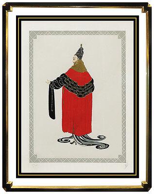 ERTE Embossed Serigraph Original Costume Dress Design Art Deco Gala Performance