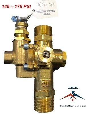 Gas Air Compressor Unloader Check Valve Combo 145 - 175 Psi 34 Inlet Outlet