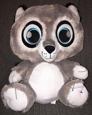 Peek-A-Boo Toys Bright Eyes Plush Grey Raccoon 17 inch Soft Sewn Eyes - Bright Eyes Stuffed Animals