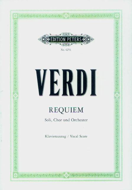Giuseppe Verdi Requiem Noten Klavierauszug Edition Peters 4251
