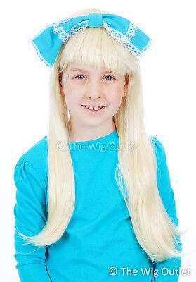 Alice in Wonderland Blonde Children's Costume Wig Bookweek Fancy Dress Kids New
