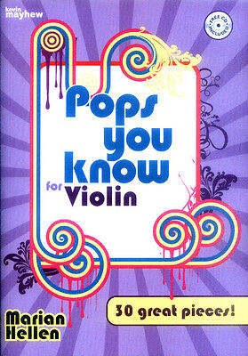 Pops You Know 30 Pop Film TV Songs für Violine Geige und Klavier Noten mit CD