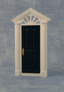 Painted Skylight Front Door, Dolls House Door, Black Exterior Door.