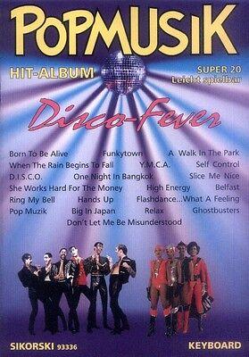 Pop Musik Hit Album Super 20 Disco Fever Noten für Keyboard oder Klavier leicht