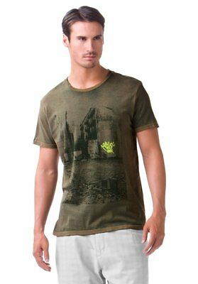 Enzym Wash Tee (Oakley Men's New York Alley Tee Enzyme Wash T-Shirt Aloe Green Size XL New)