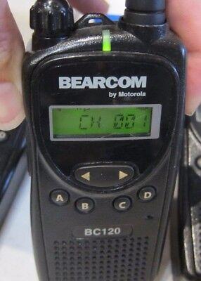 Motorola Bearcom Bc120 Uhf Two Way Radio Aah49rcf8aa1ab Uhf