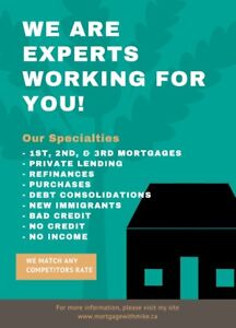 ** 1st, 2nd, 3rd & Private Mortgages Rates Starting from 2.45%