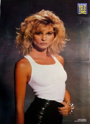 *NICOLLETTE SHERIDAN / RICHARD DEAN ANDERSON: 2 pages 1990 POSTER (FREE SHIPPING