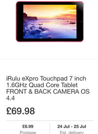 Irlu expro tablet brand new