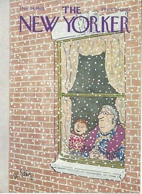 Cover Only  The New Yorker Magazine  Steig   December 14 1968 Boy Grandmother