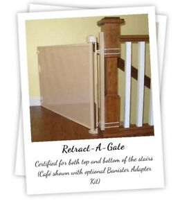 "Two 52"" Retract-a-gate baby/pet gates"