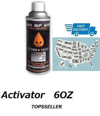 Activator 6oz Spray Water Transfer Printing Aerosol Can Hydrographics Dipping