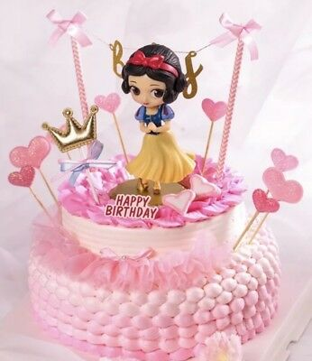 Snow white PVC Birthday Cake Topper Decoration Party Supplies. (Birthday Cake Supplies)