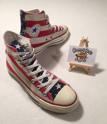 Converse Unisex Chuck Taylor AS Stars & Bars Hi Top Trainers UK 6 'VINTAGE USA'
