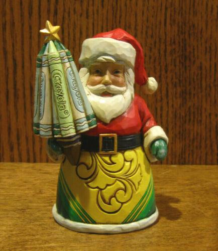 """Jim Shore Crayola Collection #6009136,CRAYOLA SANTA w CRAYON TREE, 4.92"""" NEW/BOX"""