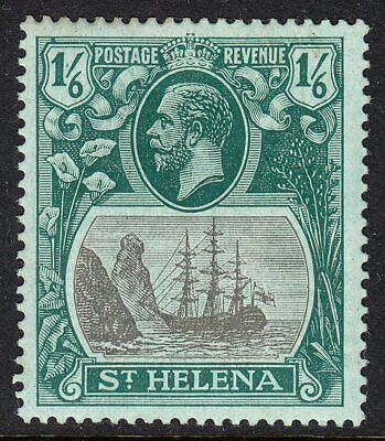 ST HELENA 1922-37 SG93b 1d GREY & GREEN/BLUE-GREEN TORN FLAG MM CV £550