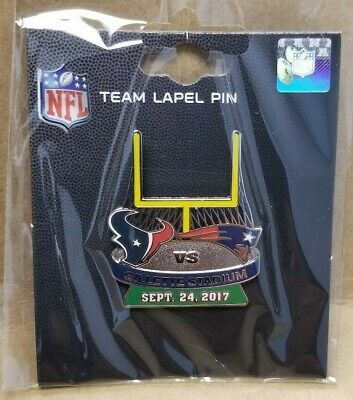 2017 HOUSTON TEXANS vs NEW ENGLAND PATRIOTS 9/24/17 GAME DAY PIN Free Shipping
