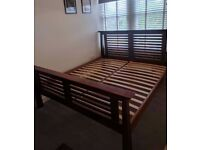 Lovely super king size bed frame in solid wood from Australia!
