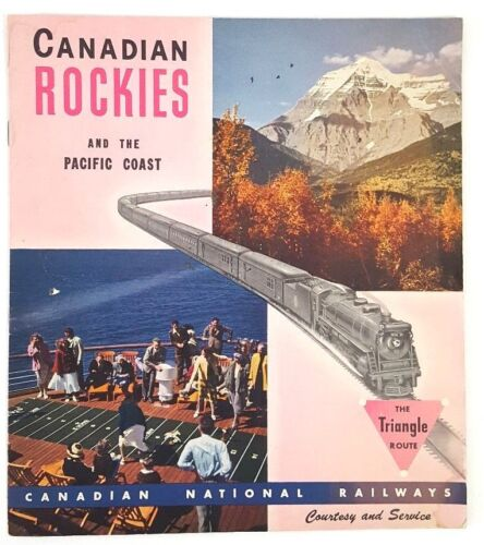 Vtg 1948 Canadian National Ry Canadian Rockies & The Pacific Coast Brochure L18