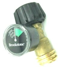 Brookstone Brass Grill Gauge One Step Propane Gas Monitor