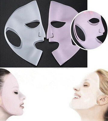 Silicone Moisturizing Face Mask Cover Beauty Reusable Sheet Prevents Evaporation
