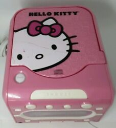 Hello Kitty Stereo CD Player AM/FM Dual Alarm Clock Radio Pink WORKS!