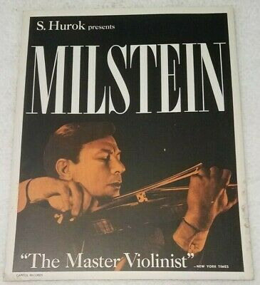 "Vintage Nathan Milstein Master violinist Capitol Records Promo 18""x14"" poster"