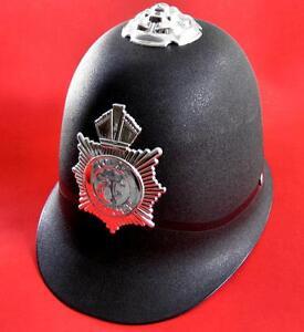 Traditional Black English BOBBY Hat British Police Officer Costume Helmet NEW